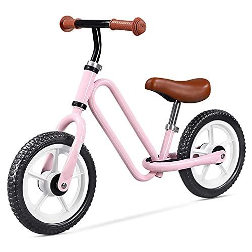 XGYUII Scooter para niños sin pedales con diseño de clip de papel retro para niños de 3 a 6 años de edad, scooter de dos ruedas, sin pedales de pie, color rosa