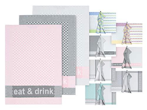 Dyckhoff 3er Set Küchentücher - Geschirrtücher in Markenqualität 1449.2047, Eat & Drink