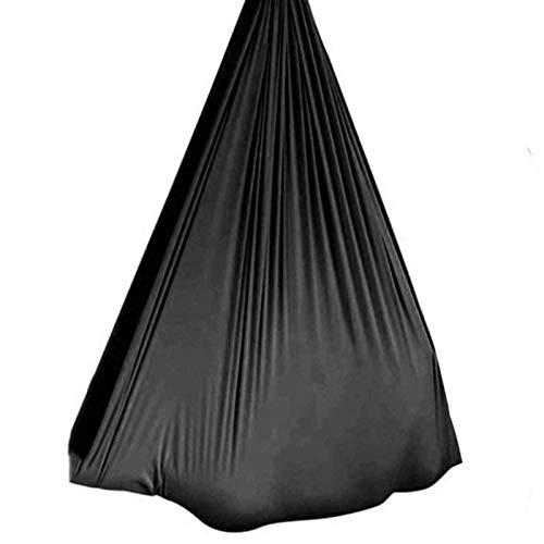 MTFZD Sensory Swing Hammock Indoor Outdoor Swing Nylon Hammock For Autism ADHD ADD Cuddle Up 200KG Sensory Child Elastic Parcel Steady Seat Swing (Color : Black, Size : 100 x 280 cm (L x W))