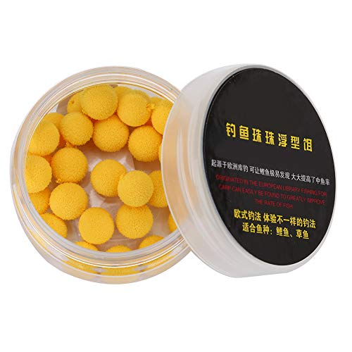 Pangdingk Appâts de pêche, Mousse 30Pcs / Lot Carpe 10 / 12mm Up Lell Flottant Laisse Flottante(10MM-Jaune)