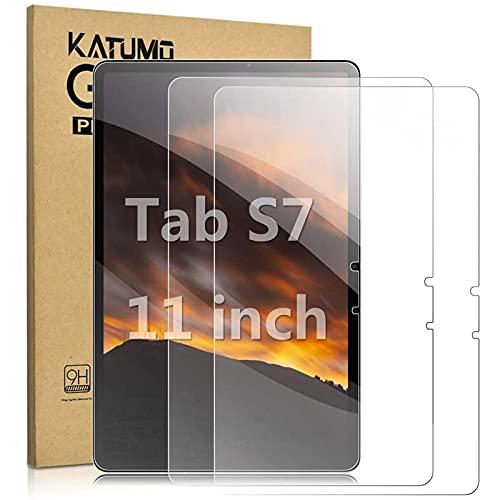 KATUMO [2 Pezzi]Pellicola Protettiva per Samsung Galaxy Tab S7 11pollici Tablet Anti-impronte Digitali Vetro Temperato per SM-T870 T875, Protezione Schermo con Durezza 9H per Samsung Galaxy Tab S7