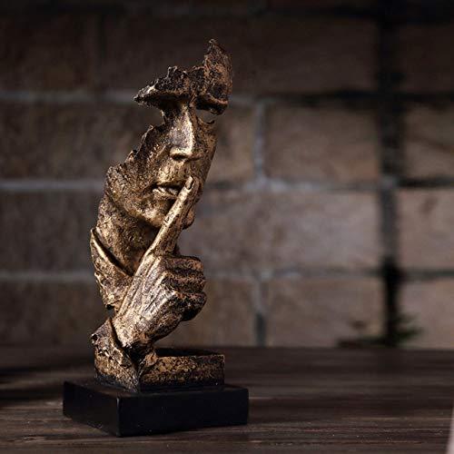 HUANSUN Estatuas Modernas Caras abstractas Creativas Arte Salas de Estar Muebles y Decoraciones para el hogar Antiguos en el Norte de Europa, 1