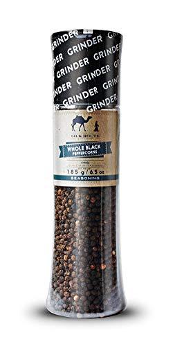 Silk Route Spice Company Grote Pepermolen met Zwarte Peper - 185g professionele pepermolen