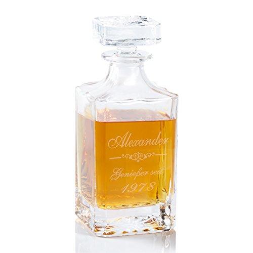 Geschenke 24 Whiskykaraf kristalglas - gepersonaliseerd whiskygeschenk