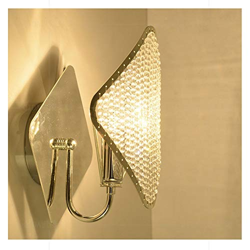 Luces De Pared De Cristal Nórdico, Lámpara De Pared LED De Lujo Clásico Moderno Creativo Dormitorio Luz De Noche para Aplique De Pared De Sala De Estar, Bombillas (Color : Gold)