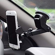Owme Car Mount Adjustable Car Phone Holder Universal Long Arm, Windshield for Smartphones - Black