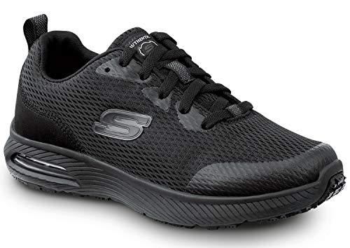 Skechers Jenny Women's Black Soft Toe Slip Resistant Athletic (9.5 M)