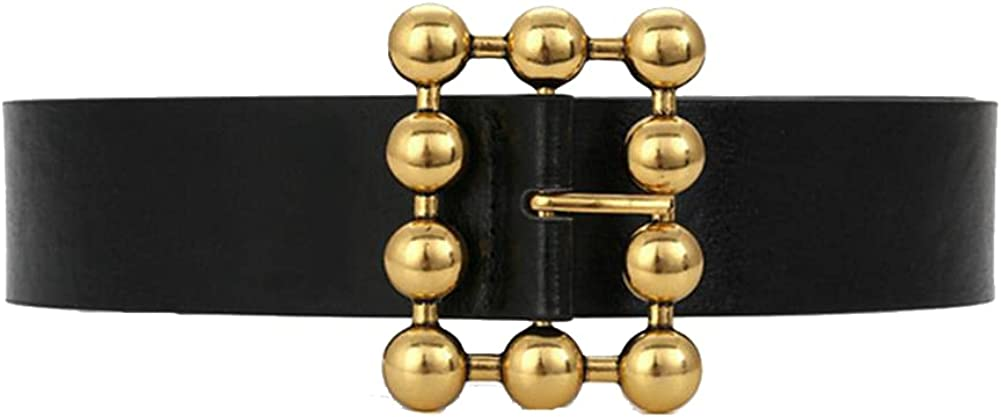 Women Belt Elegant Chain Gold Pu Belts For Waistband Square Buckle Metal Popular product