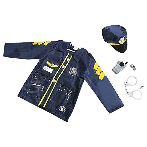 LSERVER Disfraz de Halloween Accesorios Uniformes para Niños y Niñas Cosplay de Profesión Conjunto de Traje, Policía, Talla única