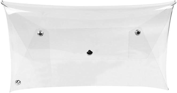 LUOEM Envelope Bag Transparent Elegant Transparent Evening Clutch for Wedding Party