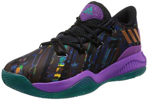 adidas Crazy Fire, Scarpe da Basket Uomo, Multicolore (Cblack/Shopur/Eqtgrn), 46 EU