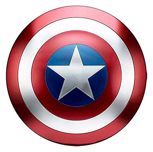 AFDLT Escudo de Vestuario de Capitán América, Réplica De Marvel Prop,Capitán de América, Talla única para Adulto,60CM