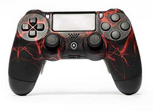 AimControllers - Custom PS4 Controller - DualShock 4 - Sony Playstation 4 Konsole Personalisiert Gamepad - Storm Red
