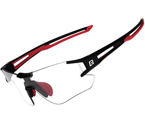 ROCKBROS Gafas de Sol Fotocromáticas Lentes Transparentes para Bicicleta MTB Montaña Ciclismo...