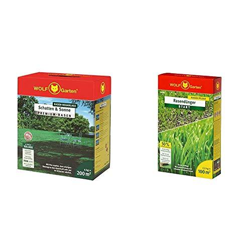 WOLF-Garten - Premium-Rasen »Schatten & Sonne«LP 200; 3820050 & Rasen-Starter-Dünger LH 100; 3833030