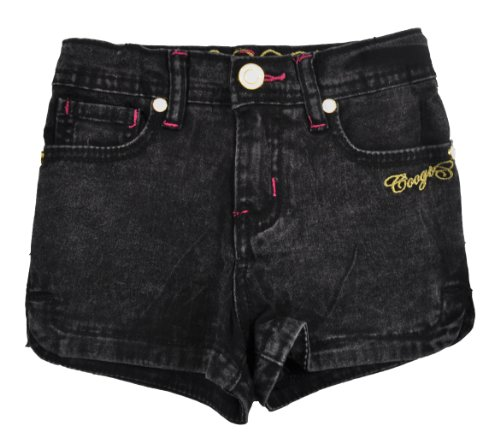 COOGI Toddler Girls Black Acid Denim Shorts (3T)