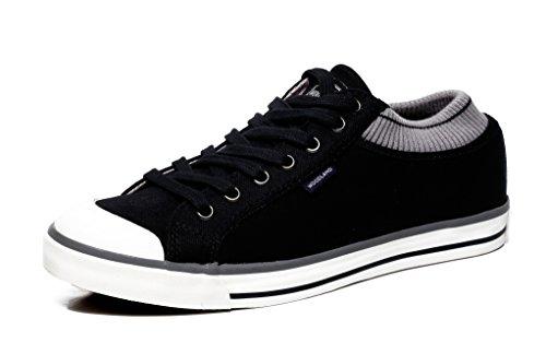 Woodland Men's Black Canvas Sneakers - 8 UK/India (42EU), (GC 1950115C)
