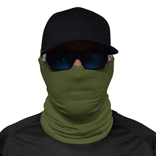 JOHN BOY Construction Face Guard - UPF 50+ Jobsite Dust Mask with UV Sun Protection & Moisture Wicking Fabric - ARMY
