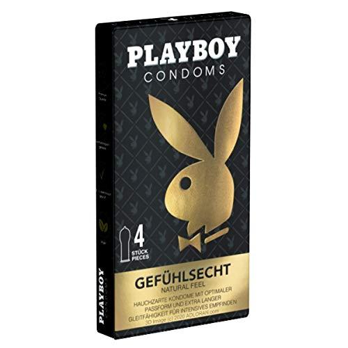 Playboy Gefühlsecht, 4 preservativi anatomici e sottili