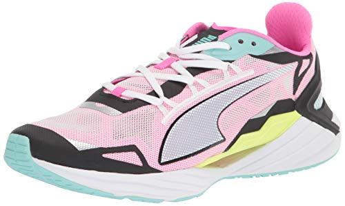 PUMA womens Ultraride Cross Trainer, Puma White-puma Black-aruba Blue, 9.5 US