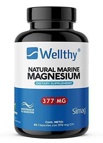 Magnesio Marino Natural del mar mediterráneo, alta Biodisponibilidad y absorción. 50 cápsulas