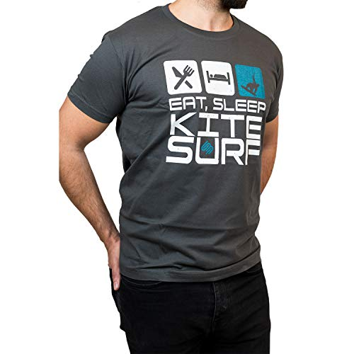 Schier Boards Kite – Camiseta – Eat Sleep Kitesurf Repea