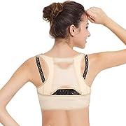 isermeo Correcteur De Posture Pour Femme - Dorsale Corset De Soutien - Vertébrale, Clavicule Corrige et Maintien Du Dos - Réglable Posture et Epaule Support