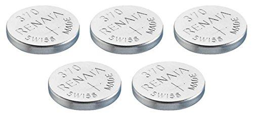 Uhrenbatterie Renata Swiss made Renata 370 oder SR920SW 1.5V (5 x 370 oder SR 920 SW)