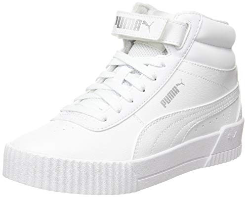 PUMA Carina Mid JR, Zapatillas para Niñas, Blanco White White, 38 EU