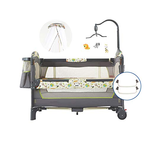 Best Price LYNNDRE Portable Crib for Bedroom/Travel -Baby Bassinet for Bed Compact Travel Cot 0-36 M...
