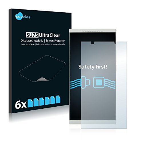 Savvies 6X Schutzfolie kompatibel mit KingZone K1 Displayschutz-Folie Ultra-transparent
