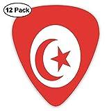 Drapeau de la Tunisie 12 pièces de médiators personnalisés pour guitare