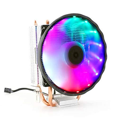 Queen.Y Ventilador de Enfriamiento de La CPU de 3 Pines del Enfriador de La CPU 2 para La CPU del AMD de Intel