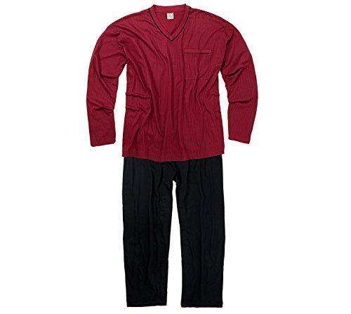 ADAMO Schlafanzug Langarm – in weinrot/Bordo – größe Größen – bis 9XL