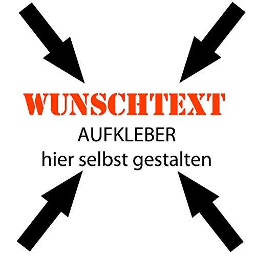 30cm Beschriftung Wunschtext Aufkleber Sticker Text individuell selbst gestalten