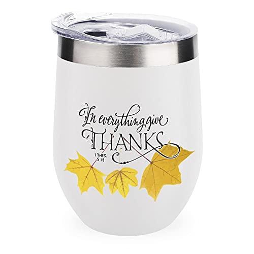 Vaso de vino en todo dar gracias divertido regalo para el trabajo...