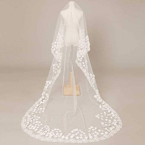 New 3 Meters One Layer Ranking TOP13 Bridal Veil Beading with Wedding Max 56% OFF Flowers