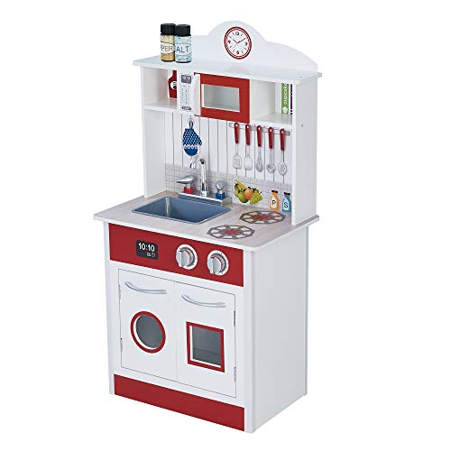 Teamson Kids - Pastel Little Chef Wooden Play Kitchen for Toddler (1...