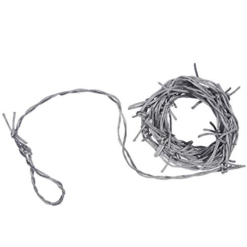 Beistle Silver Barbed Wire Garland, One size