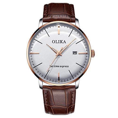 Armbanduhr,Stahlgürtel Lässig Sport Leuchtend Wasserdicht Gebogene Bildschirm Uhr, Rose Shell