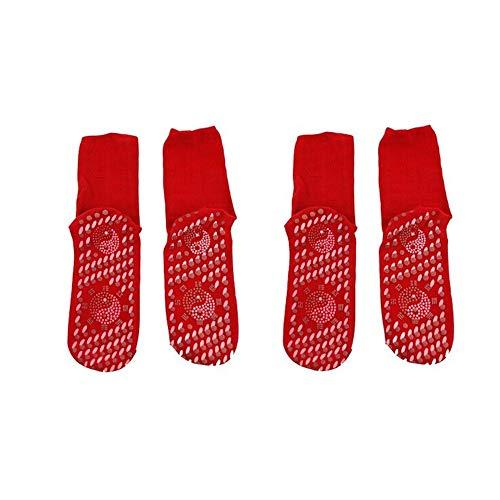 Kangwell Calcetines autocalentables | Turmalina autocalentamiento terapéutico calcetines magnéticos cómodos transpirables masaje anti-congelación calcetines de pie calidos al aire libre