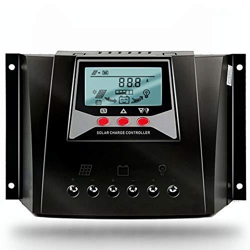 Solarladeregler 50A 12 V 24 V 36 V 48 V Auto 100 V PV Eingang PWM Regler mit Temperaturkompensation