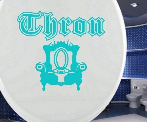 WC Deckel Aufkleber THRON Sessel Tür Bad Spruch Türaufkleber Toiletten Bad Tattoo Badezimmer Klodeckel Deko Sticker 3C086, Farbe:Rot Matt, Breite vom Motiv:25cm
