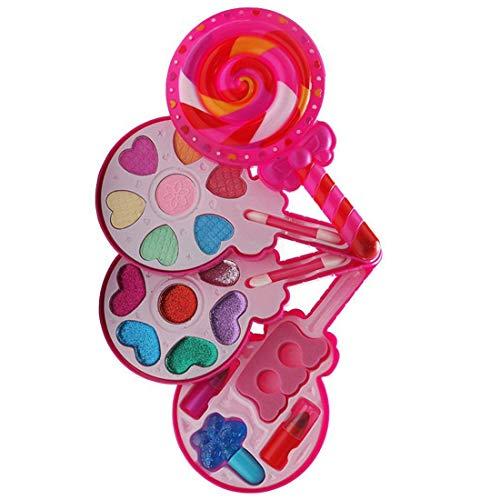 Naponior Kinderschminke Set für Mädchen - Waschbar Schminkset Kinder mit Schminkkoffer - Mädchen Makeup Set Kosmetik Spielzeug Kosmetikset mit Nagellack, Lipgloss, Rouge für Kleine Mädchen