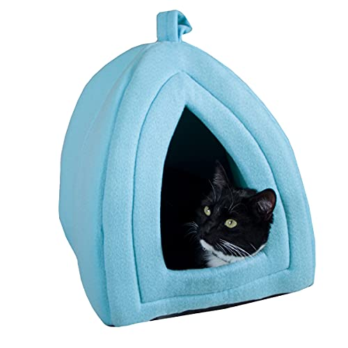 PETMAKER Coleção de cama para animais de estimação Igloo – barraca/casa macia para gatos, gatinhos e pequenos animais de estimação com almofada removível