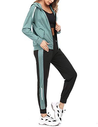 Aibrou Tuta Donna Sportiva Primaverile Completi Sportivi Due Pezzi Tuta da Ginnastica Abbigliamento Sportivo Donna Pigiama Set