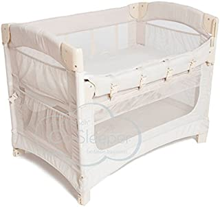 snuzpod bedside crib and mattress natural