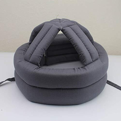 WANGXN Anti-Fall-Kopfschutzhelm Atmungsaktive Anti Shock Kappe Anti Fall Kopf Schwammsicherheit Verstellbarer Kopfschutz Hut mit Klettverschluss Anti Collision