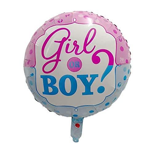 JSJJAER Globos de cumpleaños 10pcs 18inch él o Ella niño o una niña de género Papel de Las Bolas de Aluminio Globo de la Ducha del bebé Incrementa la atmósfera (Ballon Size : 18inch, Color : 3)