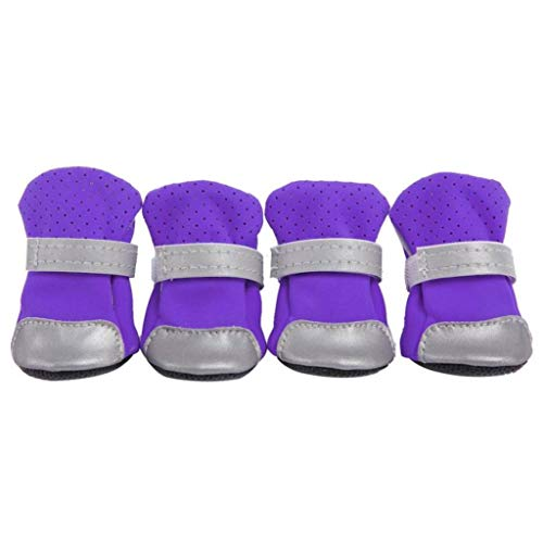 AMURAO Zapatos Antideslizantes para Mascotas de Invierno Botas Antideslizantes para Lluvia para Perros Calzado Grueso para Gatos pequeños Calcetines para Cachorros